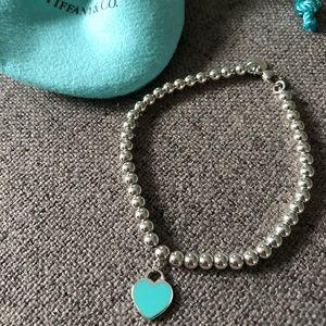 Teal Return to Tiffany Heart Bead Bracelet